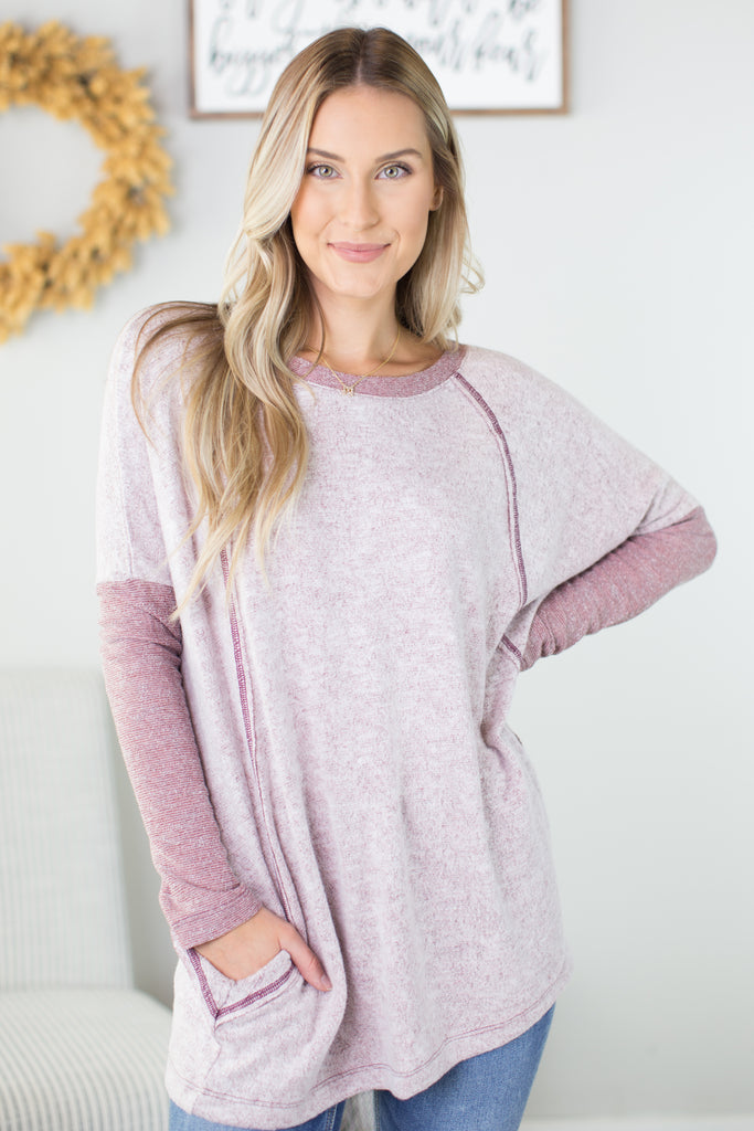 Florence Contrast Top - 2 Colors