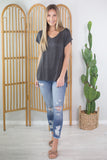 Distressed Basic Tee - 3 Colors