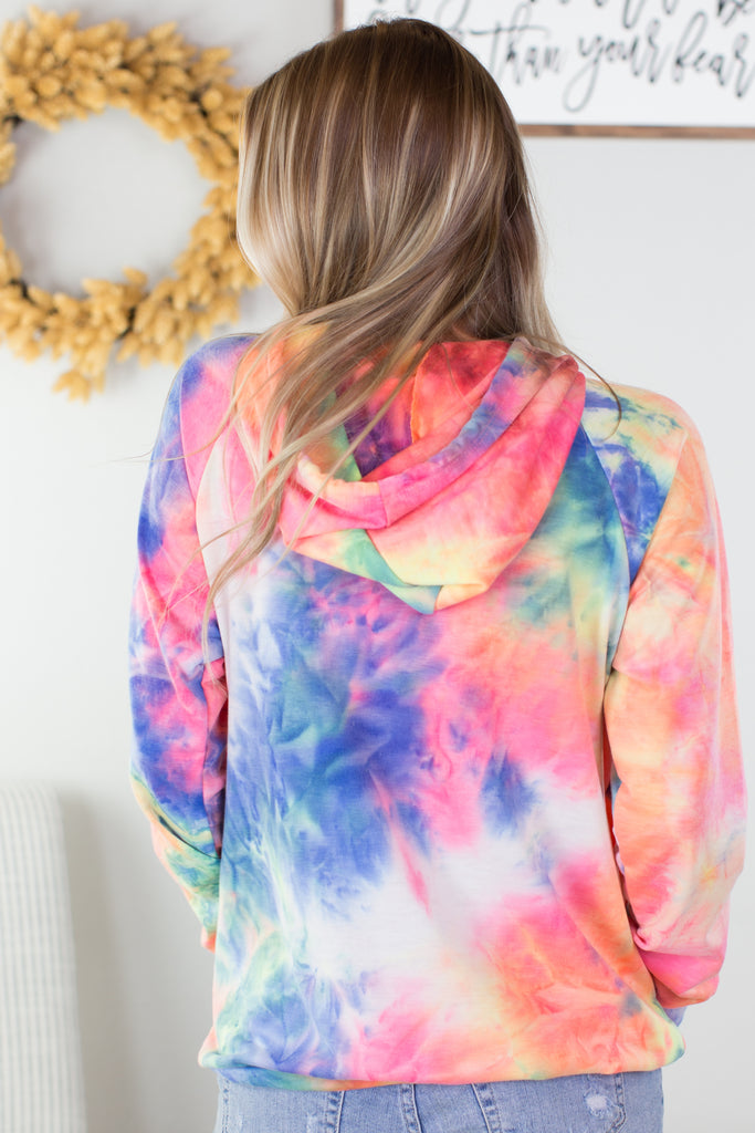 All About It Tie Dye Hoodie