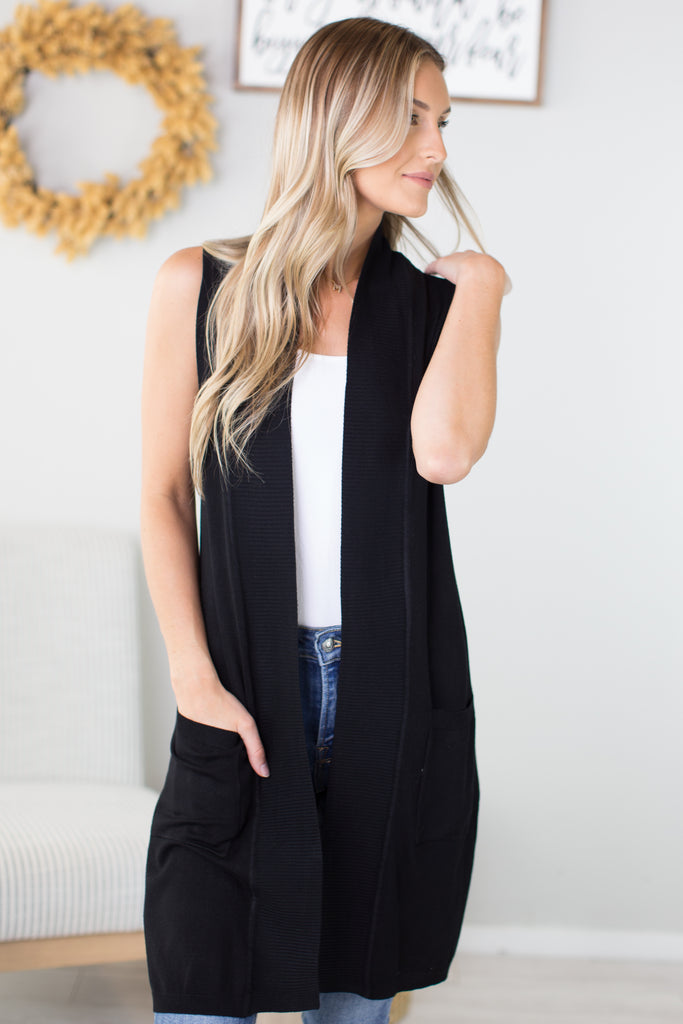 So Darling Sleeveless Cardigan - 2 Colors