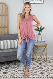 Sleeveless Tie Top - 3 Colors