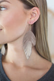 Feather Fringe Earrings-2 Colors