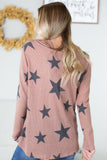 Star Bright Hooded Waffle Top