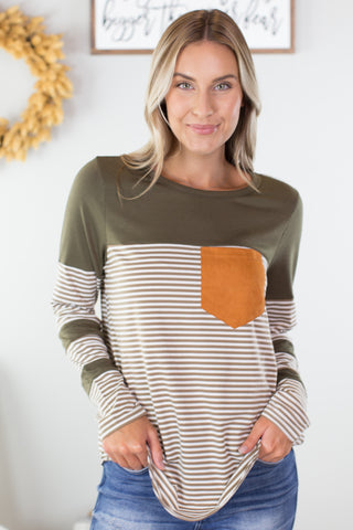 Winter Sun Chevron Top