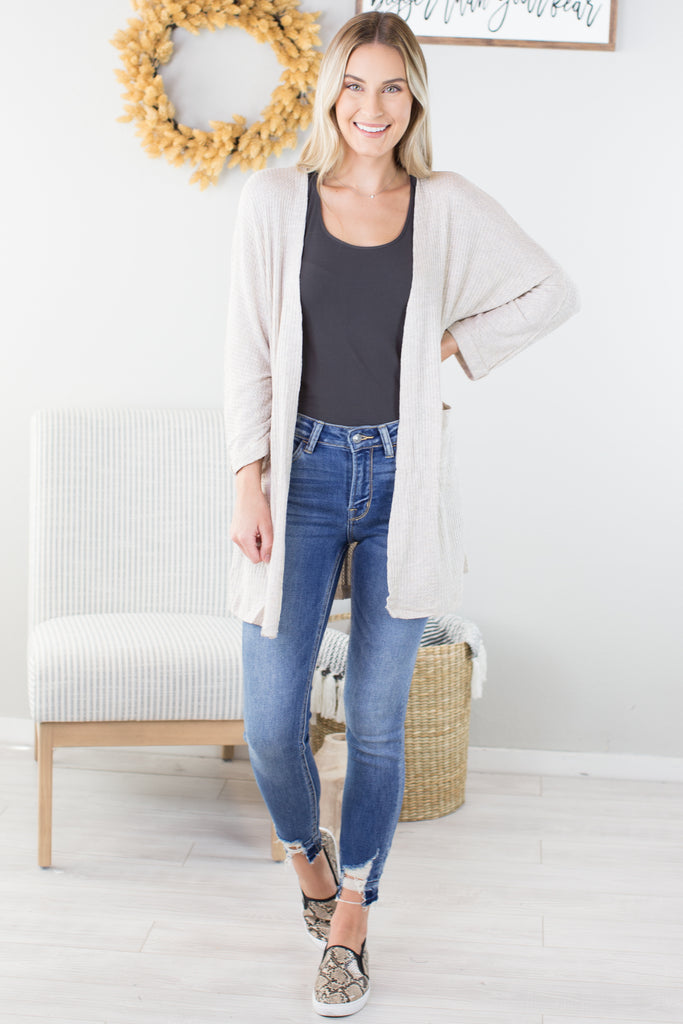 Morning Coffee Pocket Cardigan - 2 Colors