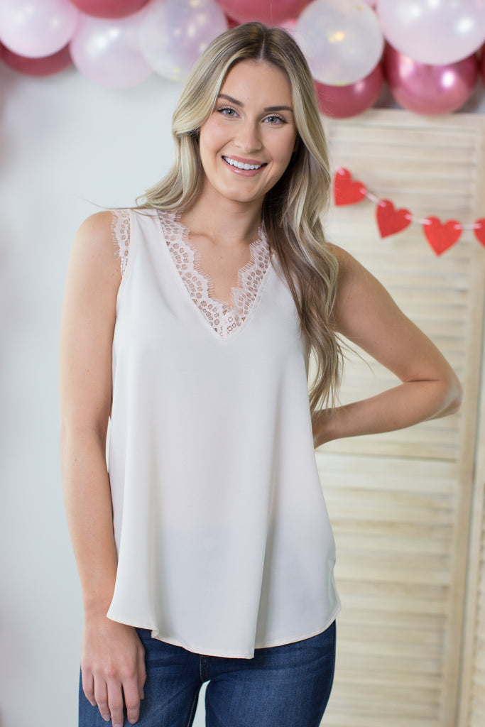 .Keep It Classy Lace Cami- 3 colors!