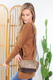 On The Prowl Leopard Crossbody Purse
