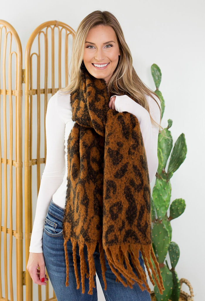 Leopard Long Scarf