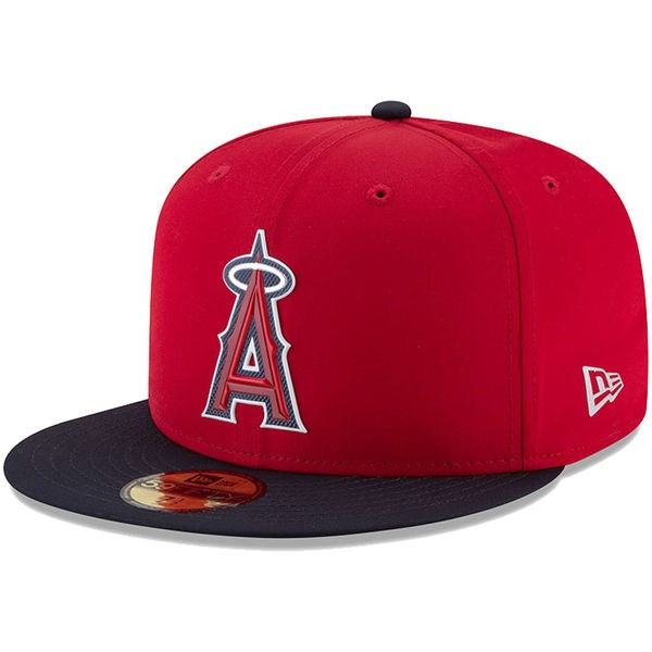 Men's Hat Angels New Era Red 2018 Spring Training Collection Prolight 59FIFTY Fitted