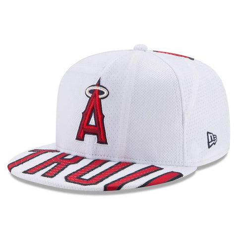 Men's Mike Trout New Era White Player Authentic Snapback Adjustable Hat
