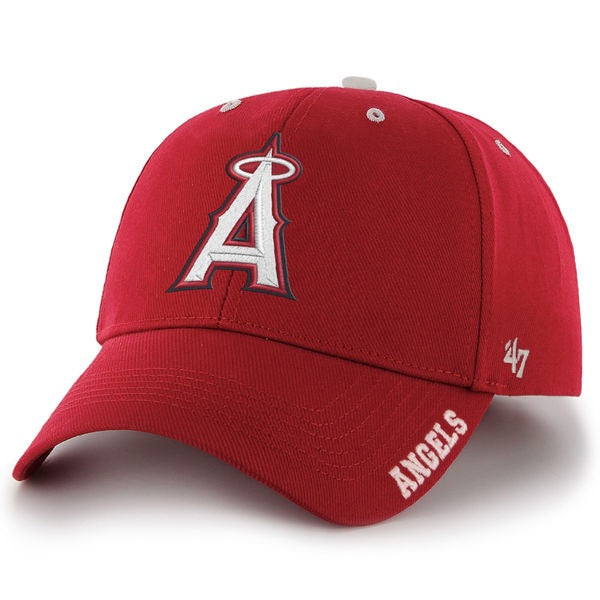 Men's Hat Angels '47 Brand Red Frost Structured Adjustable