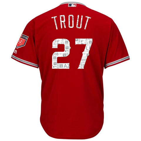 Men's Jersey Angels Mike Trout Majestic 2018 Spring Training Cool Base