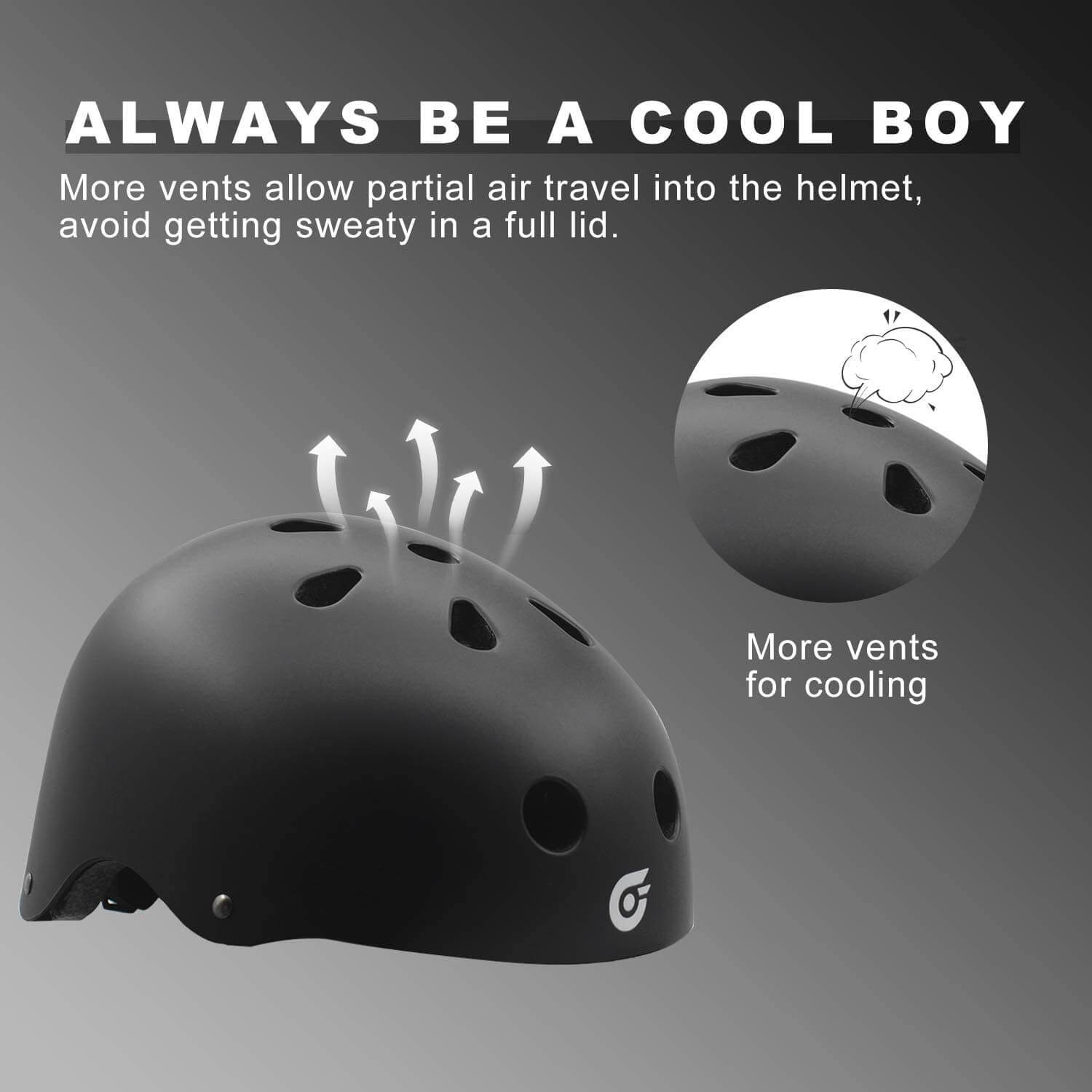 Hiboy Adjustable Helmet, Bike and Skateboard Helmet