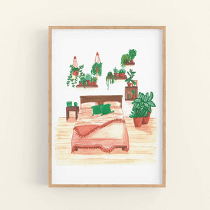 Bedroom House Plants - A4 & A5 Art Print