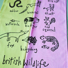 Load image into Gallery viewer, British Wildlife Tea Towel