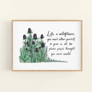 Like a Wildflower Art Print