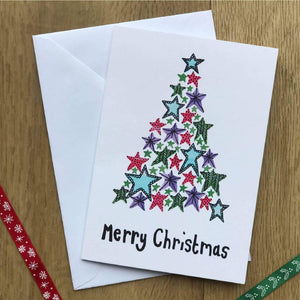 Tree of Stars Pack of 5 Christmas Cards