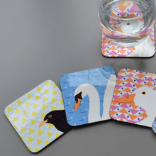 Load image into Gallery viewer, Set of 4 Bird Coasters