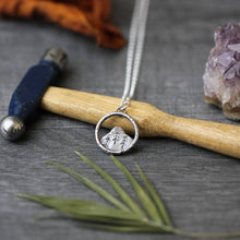 Load image into Gallery viewer, Sterling Silver Mountain Necklace