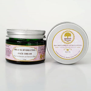 Mild & Hydrating Face Cream (For Combination, Sensitive and Normal/Pitta Skin type) 50ml (Jojoba, Avocado and Sandalwood)