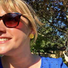 Load image into Gallery viewer, Copper Leaf and Jesmonite Earrings