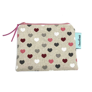 Purse, Coin purse, Heart print