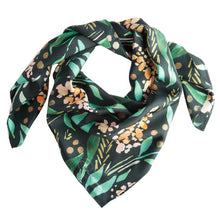 Load image into Gallery viewer, Green Foxglove Silk Scarf