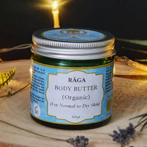 Raga Body Butter (Organic) [For Normal to Dry/ Vata SKin] 60ml (Turmeric & Sandalwood)