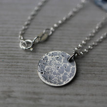 Load image into Gallery viewer, Sterling silver full moon necklace