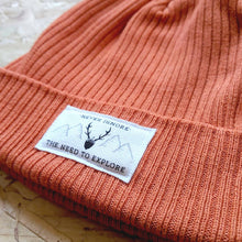 Load image into Gallery viewer, Orange Organic Beanie