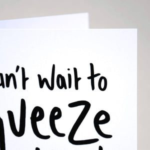 Can't Wait to Squeeze You, Cute Hug Card