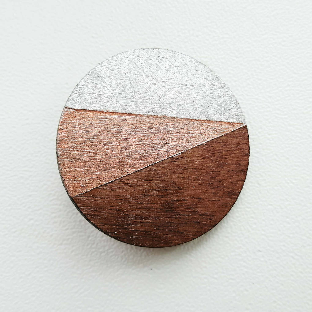 Walnut Circle Brooch