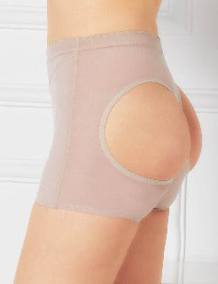 Lift your whole day with the Butt Lifter Panty in light tan. Create a better figure. Create magic. Fits sizes medium to 3xl.
