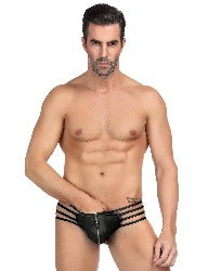Designer Men's Brief. brief in black. Fits medium to 2x