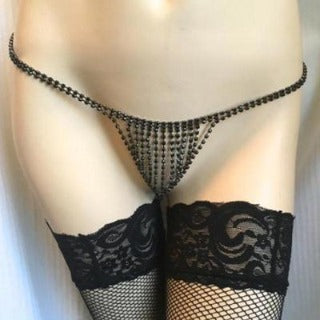 Adorn your body with the creation of the Rhinestone G String. Get desire and lust going in your lover's thoughts. Celebrate every occasion with that extra flare and sexual enticement. Turn your body into a work of art and sexual appeal!!  BUY NOW with PINKKITTY Lingerie - House Of Toys - Be Part Of The Revolution!