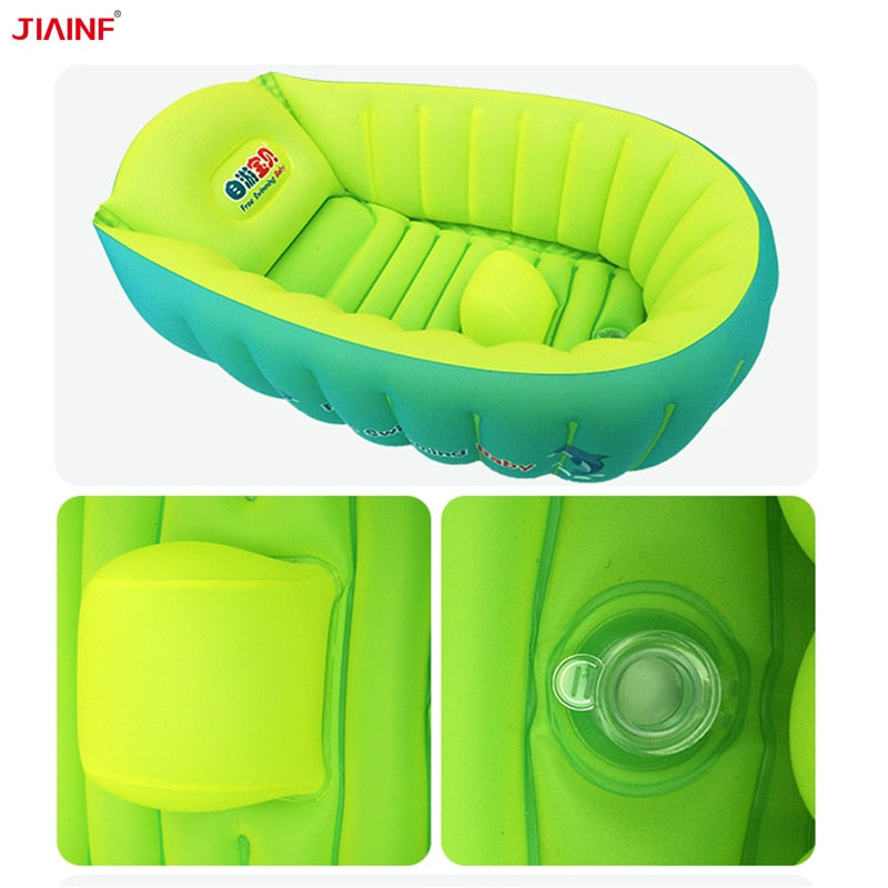 0 3 Years Old Baby Bath Tub Inflatable Bathtubs Baby Folding Bathtub Flower Bath Tubs Baby Goods for the Newborn|Baby Tubs| - ZellaMall