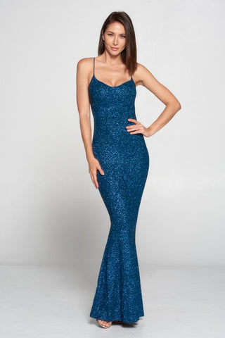 Watch Me Shine Dress (Teal)