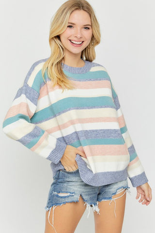 So This Is Love Stripe Sweater
