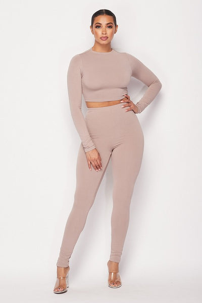 Peace Of Mind Legging Set (Taupe)