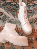 Bad Habit Combat Boots (White)