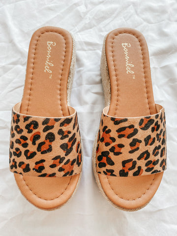 Chrissy Wedge Sandals (Leopard)