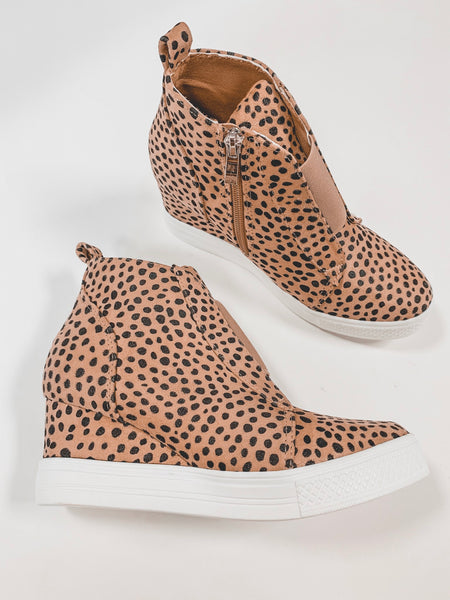 Kiera Cheetah Wedge Sneakers