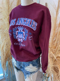 Los Angeles Sweatshirt (Burgundy)