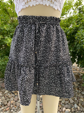 Harper Mini Skirt (Black)