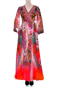 Fuchsia Wrap Dress-CP