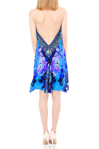 Azure Short Dress-Floral Print