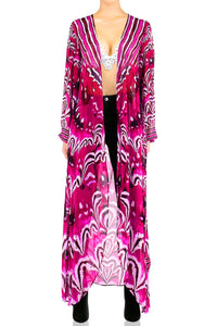 Duster Robe Fuchsia