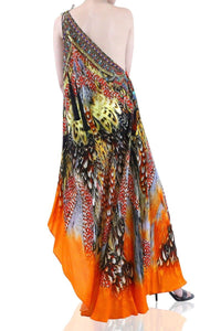 Printed-Maxi-Dress-3-Ways-To-Wear-Long-Dress-Orange