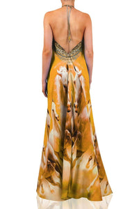 Printed-Yellow-Maxi-Dress-3-Ways