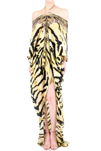 Tiger Print Hi-Low Kaftan